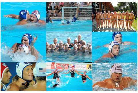 water polo collage