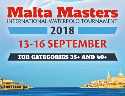 Malta Masters International Water Polo Tournament, September 13th-16th 2018