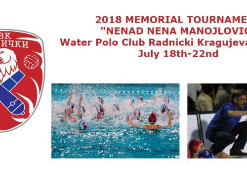 "Memorial Tournament ""Nenad Nena Manojlovic"" – Boys and Girls 2005 and younger"